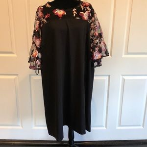 Lane Bryant Mesh Top & Sleeve Embroidery Dress 28